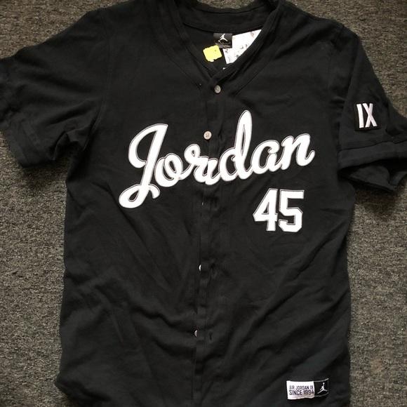 eb82512d937 Jordan Shirts | Mj Baseball Cotton Jersey | Poshmark
